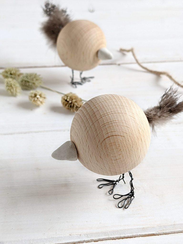 Holzkugel-Vogel DIY