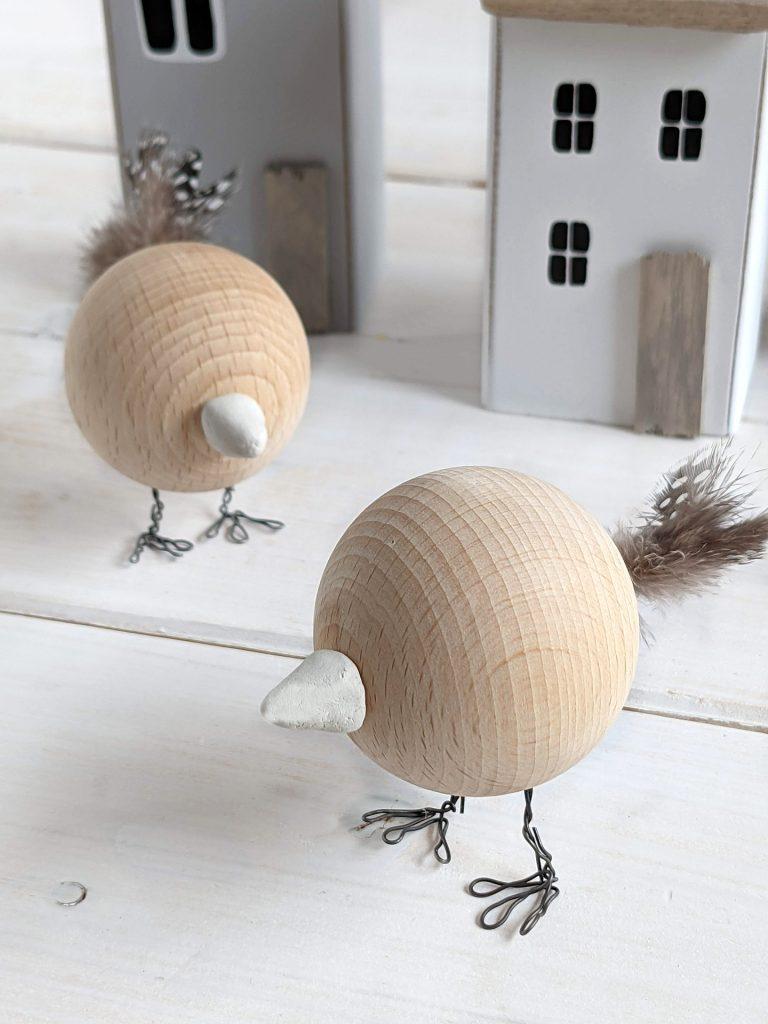 Vogel Holzkugel DIY