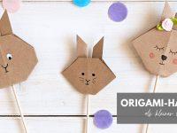 DIY: Origami-Hasen als kleiner Ostergruß