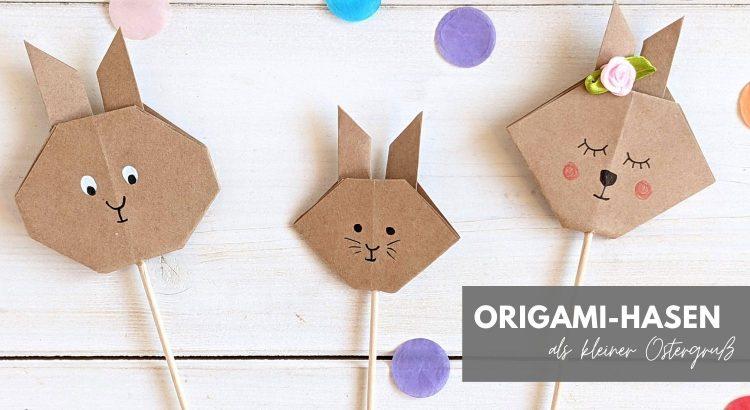 Origami-Hasen Faltanleitung