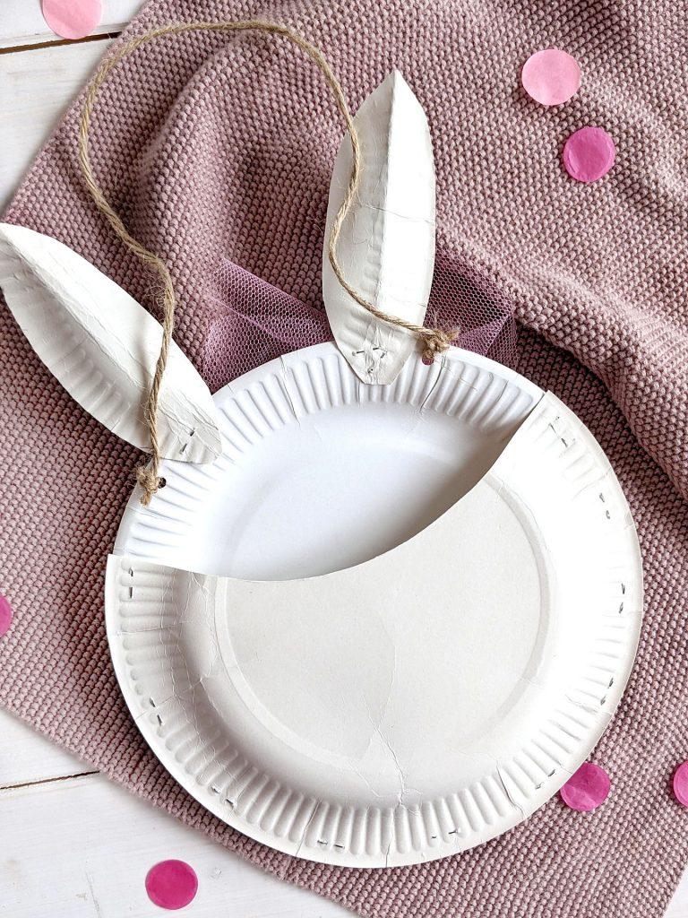 Pappteller Bastelidee Ostern