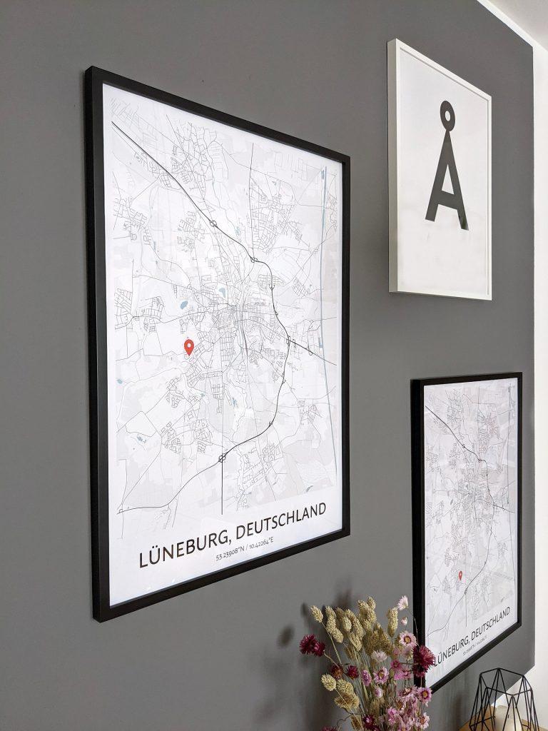 personalisierter Stadtplan Geschenkidee