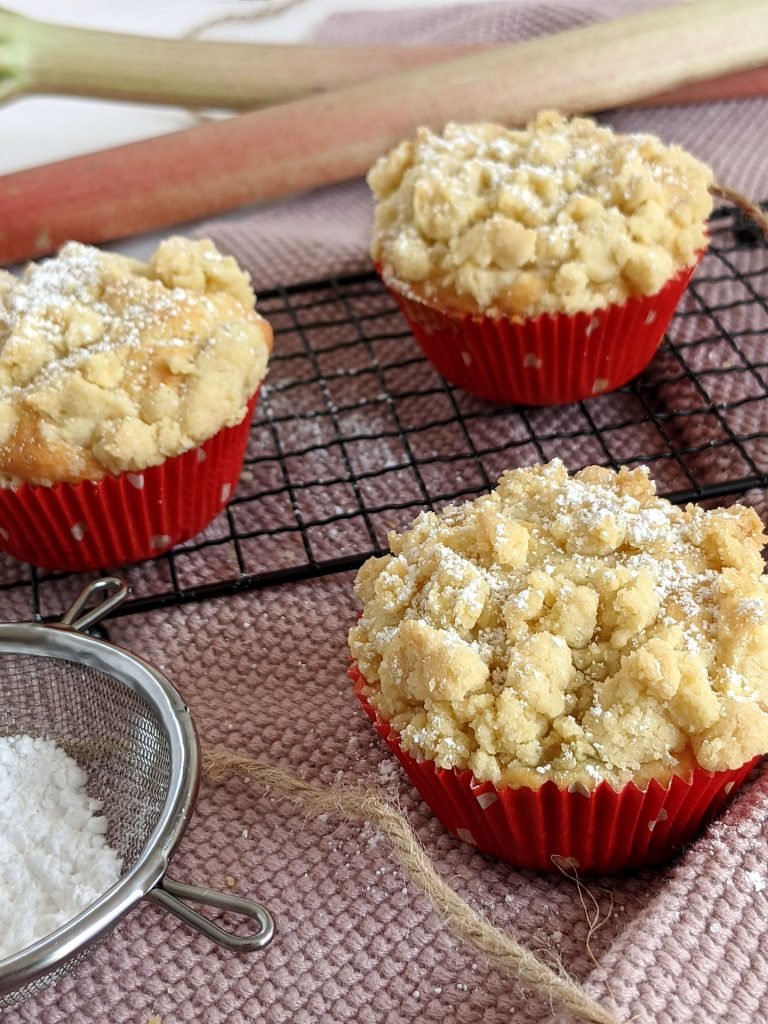 Rezept Rhabarber-Muffins mit Streusel