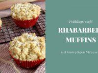Rezept: Rhabarber-Joghurt-Muffins mit Streusel