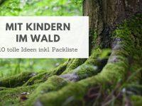 Im Wald mit Kindern: Ideen für die ganze Familie