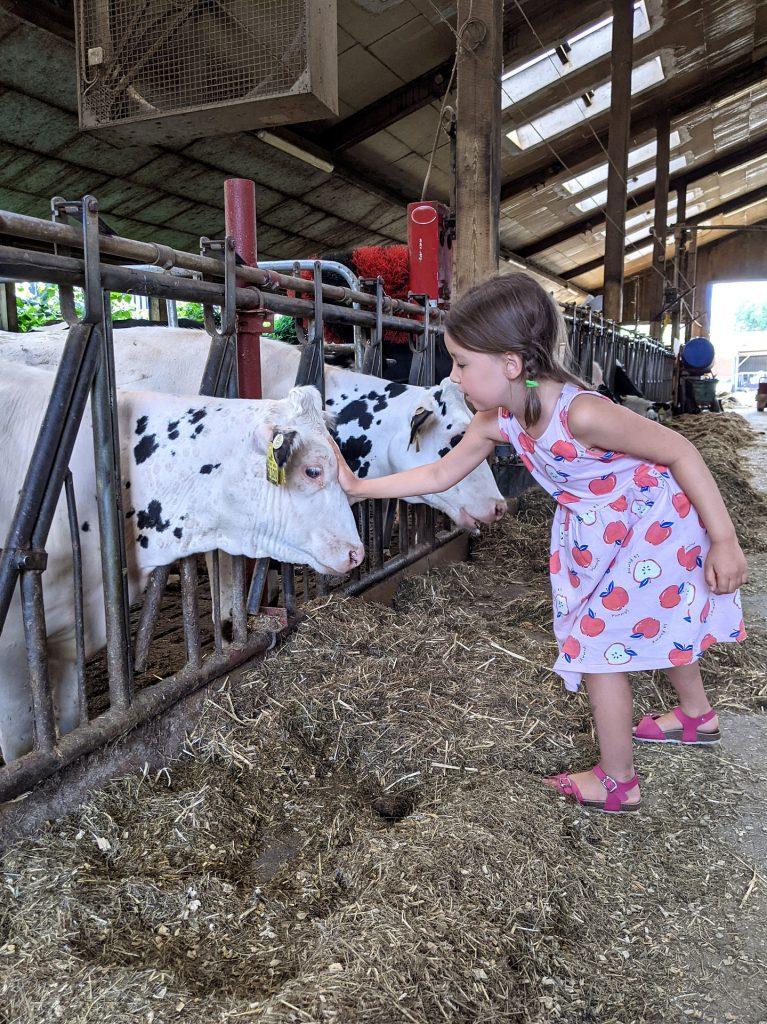 Bauernhofbesuch mit Kindern