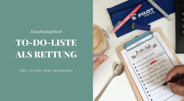 Hausbautagebuch To-do-Liste