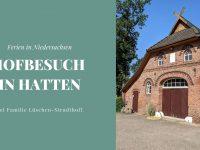 Ferien in Niedersachsen: Hofbesuch bei Familie Lüschen-Strudthoff in Hatten
