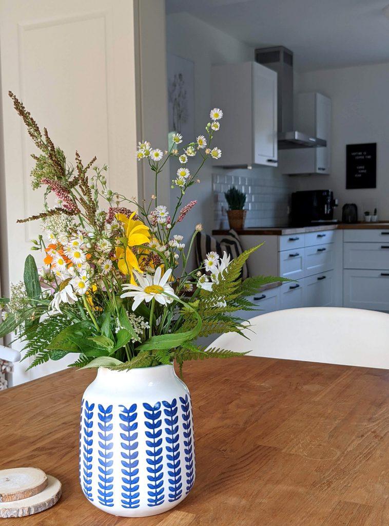 Tischdeko Delfter Vase
