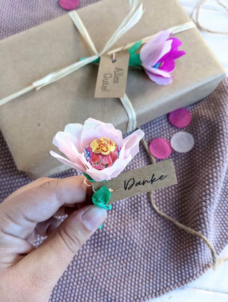 DIY Lolli-Blume basteln