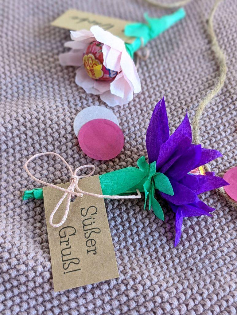 Lolli-Blume Krepppapier